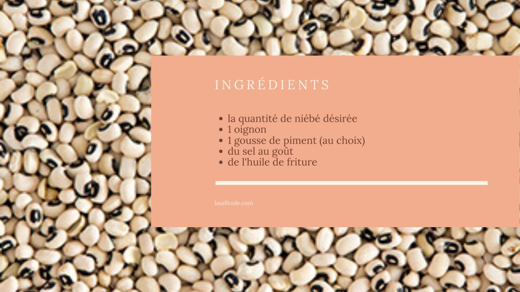Cuisine togolaise / beignets de niébé / Gaou / Sowei / lasafitude / France / Togo